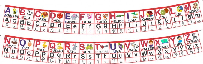 Alfabeto Varal – Modelo 0I